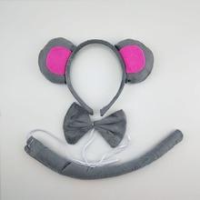 Fancy Dress Costume Monkey Ears Carnival-Tie Animal Cosplay Birthday-Party Halloween
