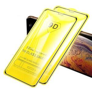 Image 1 - 10 pièces/lot 9D & 5D & Lion plein verre trempé recouvert de colle pour Xiaomi 9 Lite 9SE CC9 CC9E A3 pour Redmi Note 7 8 Pro Film décran