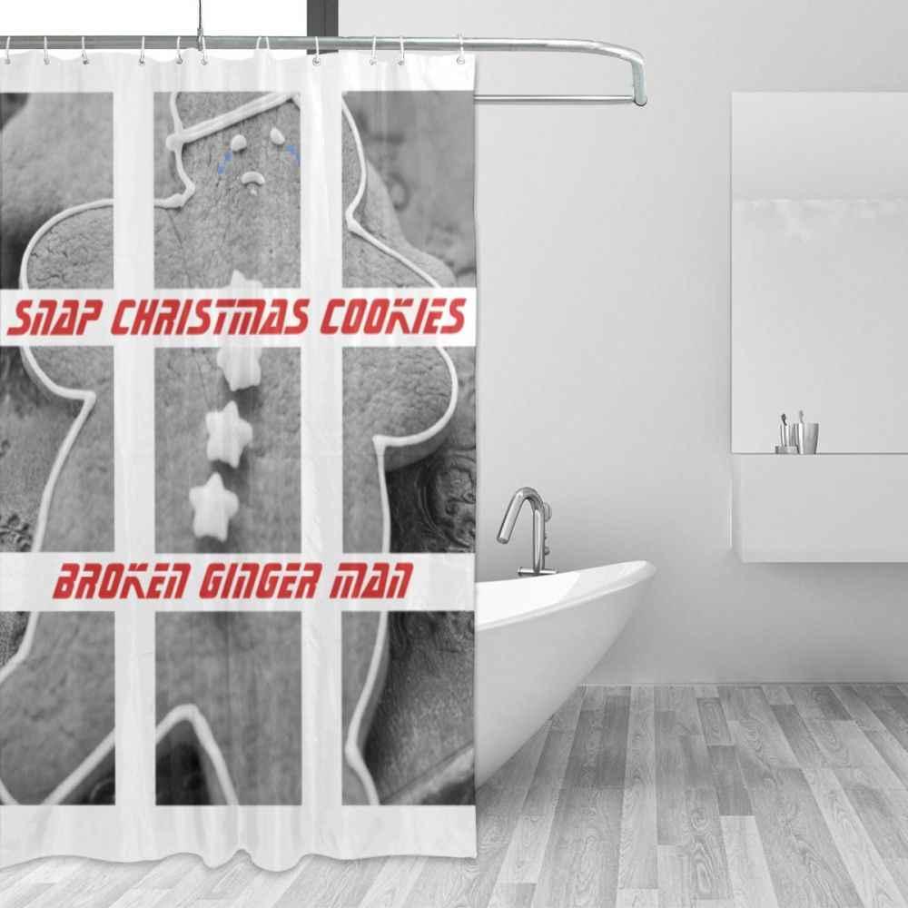 Urok domu Snap ciasteczka świąteczne uszkodzony imbir mężczyzna z tworzywa sztucznego zasłona prysznicowa 66x72 w niestandardowych łazienki wodoodporny poliester