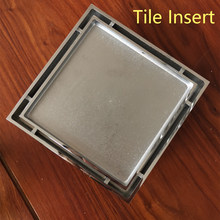 Deodorization All Brass Bathroom Accessories Square Tile Insert Floor Drain Strainer Cover 15cm shower drain floor .(China)