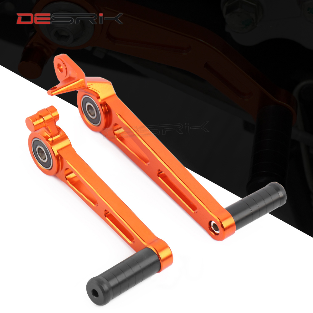 For <font><b>KTM</b></font> <font><b>390</b></font> <font><b>Duke</b></font> <font><b>2017</b></font> 2018 2019 Orange Motorcycle Foot Brake Lever & Gear Shifting Lever Pair CNC Aluminum Pedal Accessories image