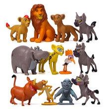 12 шт/компл disney movie the lion king simba nala pumbaa timon