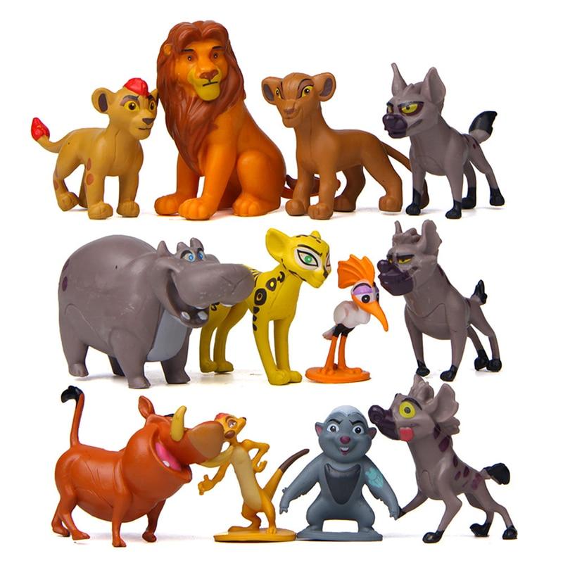 12 Pcs/Set Movie The Lion King Simba Nala Pumbaa Timon Zazu Anime Action Figures Dolls Model Toys Children Birthday Gift