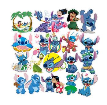 55PCS Disney character stickers Cute cartoon sticker skateboard motorcycle luggage laptop guitar sticker Stitch Avatar