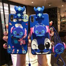 3D Cute Cartoon Stitch Case For Samsung