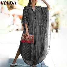 Повседневные платья 2021 vonda в винтажном стиле Вечерние Макси