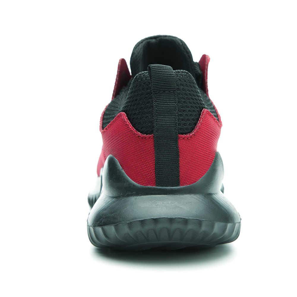 Erkek moda ışık ve rahat çelik ayak Anti Smashing iş ayakkabısı çizme erkekler kış delinme geçirmez güvenlik ayakkabıları