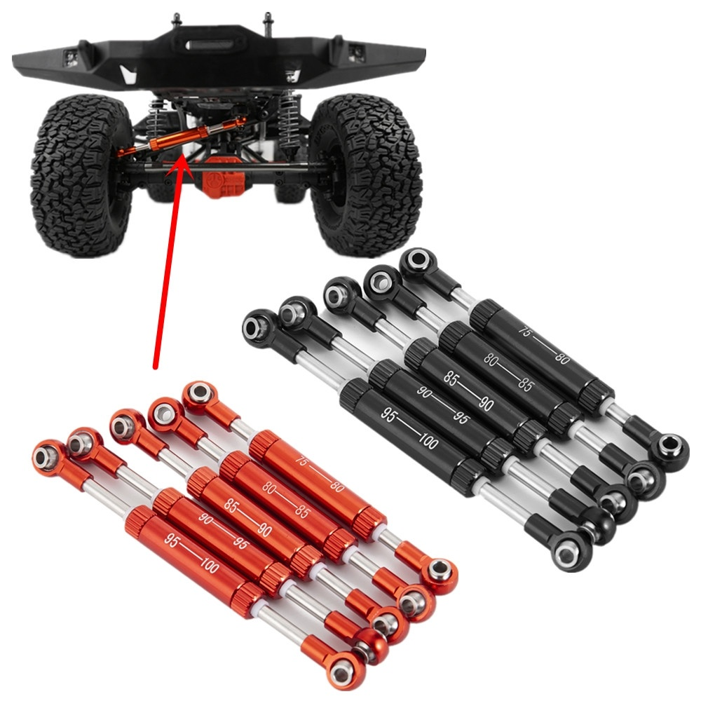 AXSPEED Adjustable Length Servos Pull Rod-Steering Lever For 1/10 RC Crawler Remote Control Toys Car SCX10 90046 TRX4