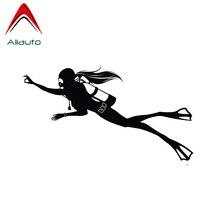 Aliauto Fashion Car Sticker Scuba Diving Sport Automobiles M