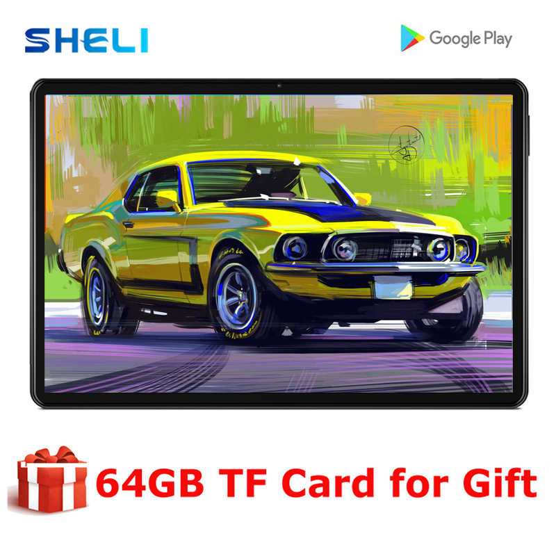2020 Global Version 10 Inch Tablet 3+32GB Memory 4G LTE Type-C Tablets Dual SIM Card Wifi Android 9.0 Tablet 10.1+ 64GB TF Card