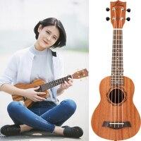 Гавайская укулеле Лады для гитары розовое дерево 21 взрослых инструмент маленький музыкальный коричневый