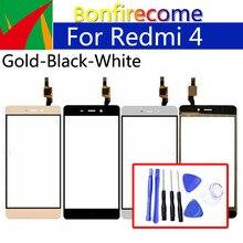 цена на 5.0 For Xiaomi Redmi 4 Redmi4 Touch Screen Panel Sensor LCD Display Glass Lens Panel Touchscreen Digitizer