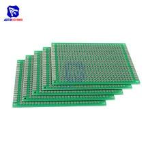diymore 5PCS/Lot 6x8cm Single Sided Prototype Universal Printed Circuit Board DIY Soldering Green PCB Board for Arduino