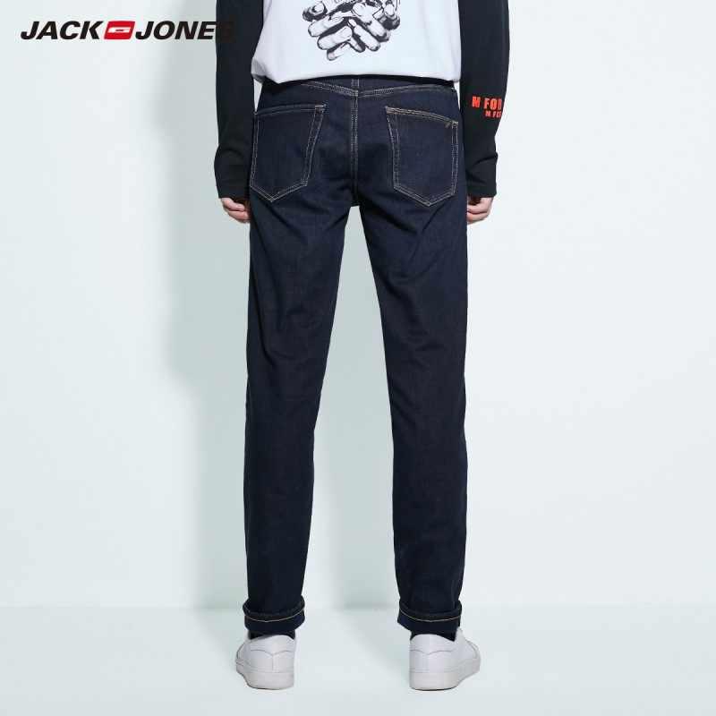JackJones di Base degli uomini di Cotone Stretch Jeans Pantaloni In Denim Caldo di Abbigliamento Maschile 219332587