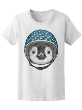 Penguin With Helmet Women'S Tee -Image By Tee Tshirt Tee Shirt