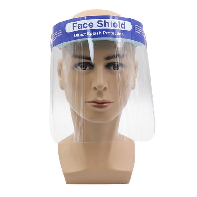 5/10/30 pcs Safety Face Shield Screen Protective Mask Visor Eye Protection Anti-fog Protective Prevent Saliva Splash shield Mask