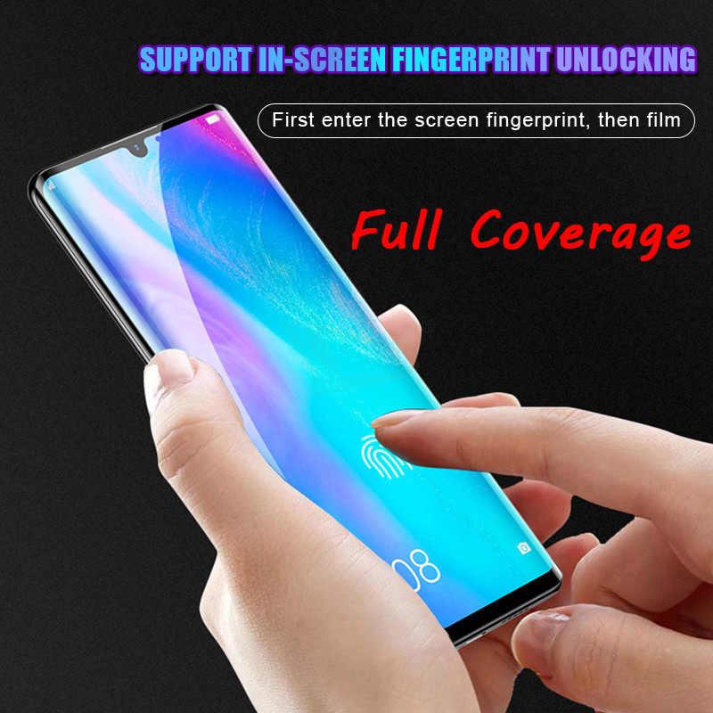 3Pcs 9D Cover Tempered Glass untuk Huawei P20 Pro P30 Lite Pelindung Layar untuk Hauwei P20 P30 Pro P smart 2019 Kaca Pelindung