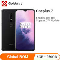 "Oneplus ROM globale 7 8GB 256GB Smartphone Snapdragon 855 Octa Core 6.41 ""AMOLED 48MP + 16MP double caméras NFC 3700mAh téléphone Mobile"