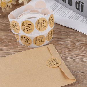 500pcs/roll Round Kraft Paper Thank You label Sticker for Supporting My Small Business Stickers seal Decor Stationery Sticker