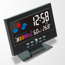 Original Lcd Digital Weather Forecast Snooze Temperature Alarm Clock Watch Household Wall Desk Alarm Watch Multi Functional стоимость