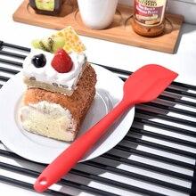 La cocina de silicona espátula para crema, mantequilla y tartas espátula para mezclar masa pincel mezclador de mantequilla cepillo para torta herramienta para hornear utensilios de cocina