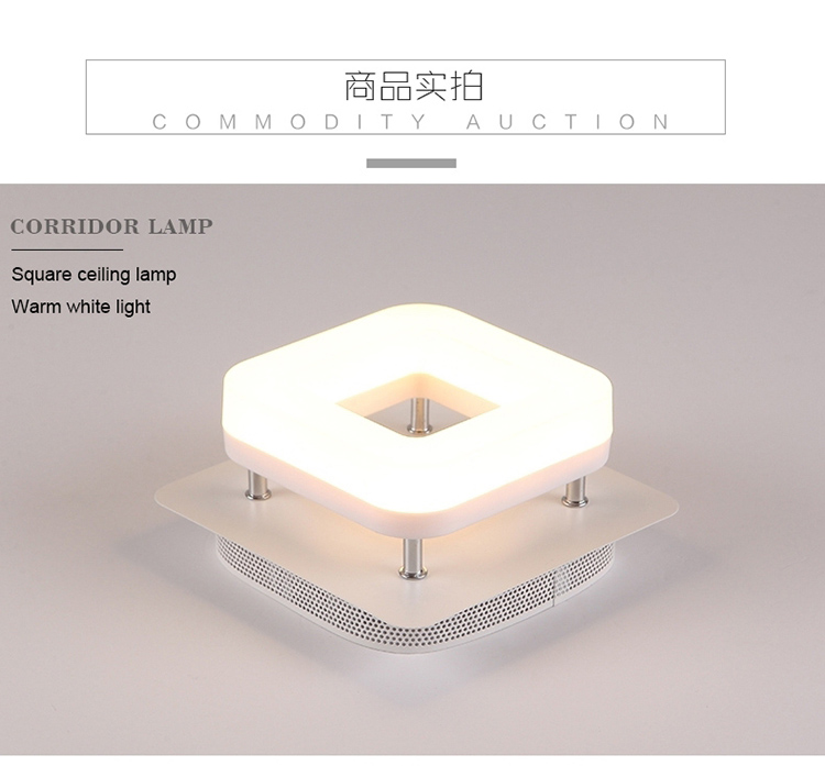 H1e744e78bf6a41539c04f9d5981b34cbp Artpad Modern Flush Mount Ceiling Light Hallway Porch Balcony Lamp Interior Lighting Surface Mounted Square LED Ceiling Lights