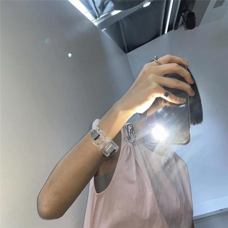 aço alyx transparente pulseira de metal fivela