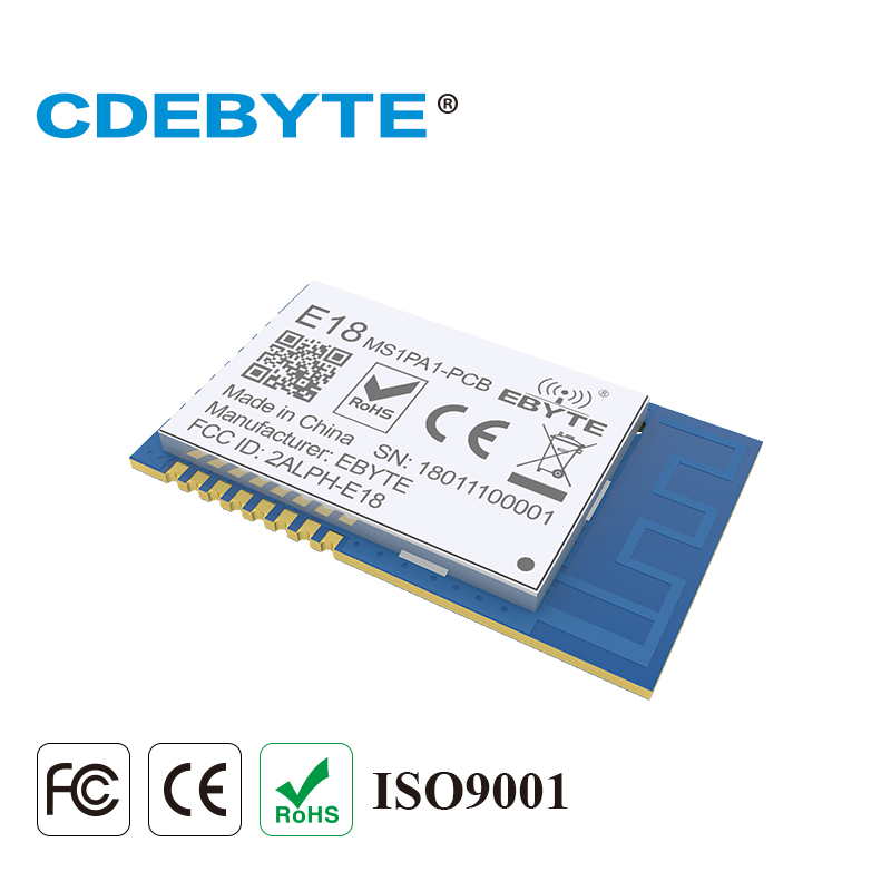 Ebyte E18-MS1PA1-PCB CC2530 ZigBee RF Module 2.4GHz 20dBm PA CC2592 SMD PCB Antenna Mesh Network Transmitter And Receiver