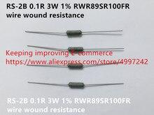 Original novo 100% RS-2B 0.1r 3 w 1% rwr89sr100fr fio de resistência à ferida (indutor)