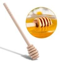 50Pcs Long Handle Wood Honey Spoon Mixing Stick Dipper Honey Extractor for Honey Jar Coffee Milk Tea Supplies Kitchen Tools