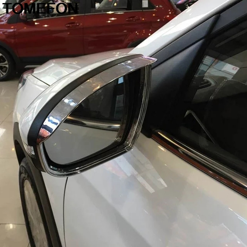 Side Mirrors Rearview Black Trim Cover 2pcs For Hyundai Tucson 2016 2017 2018