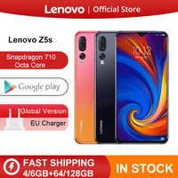 Versión Global Lenovo Z5s Z5 S Smartphone Snapdragon 710 Octa Core identificación facial 6,3 pulgadas Android P Triple trasera Cámara Smartphone
