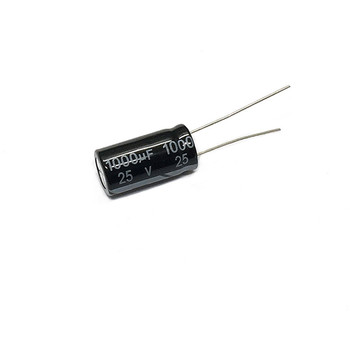 In-line electrolytic capacitor 25V 1000UF volume 10*20mm image