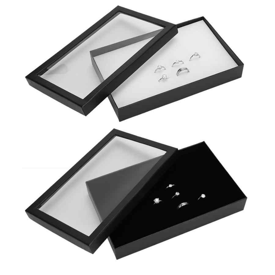 Display Case 36 Slots Earring Jewelry Holder Storage Ring Box Organizer Tray