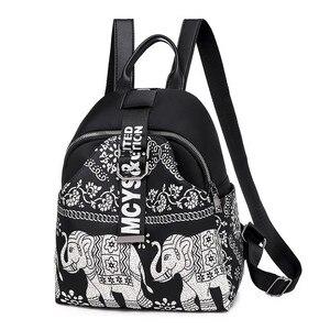 Image 1 - India Thai Style Women Backpack Leisure Ethnic Style High Quality Oxford Packbag Travel Female School Shoulder Back Bag for Girl