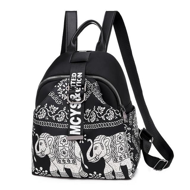 India Thai Style Women Backpack Leisure Ethnic Style High Quality Oxford Packbag Travel Female School Shoulder Back Bag for Girl