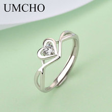 UMCHO Romantic Heart Shape S925 Rings 925 Sterling Silver Ring For Women Wedding  Anniversary Engagement Gift Fine Jewelry