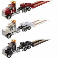 n Stcok Collectible 1/50 Scale International HX520 Day Cab Tandem Tractor With XL 120 Lowboy Trailer Model for Fans Boys Gifts