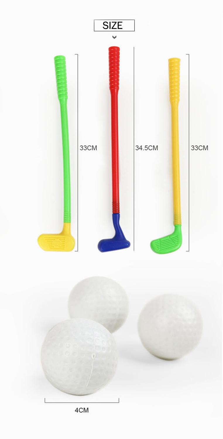 Children Kids Golf Set Outdoor Sports Games Toys Mini Golf Club Set Parent-child Interactive Fitness Toys For Boys Girls