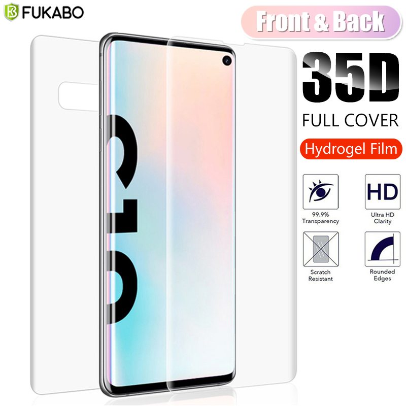 35D Front & Back Curved Screen Protector For Samsung Galaxy A51 A50 A71 A70 Hydrogel Film For Samsung S10e S8 Plus S9 Not Glass