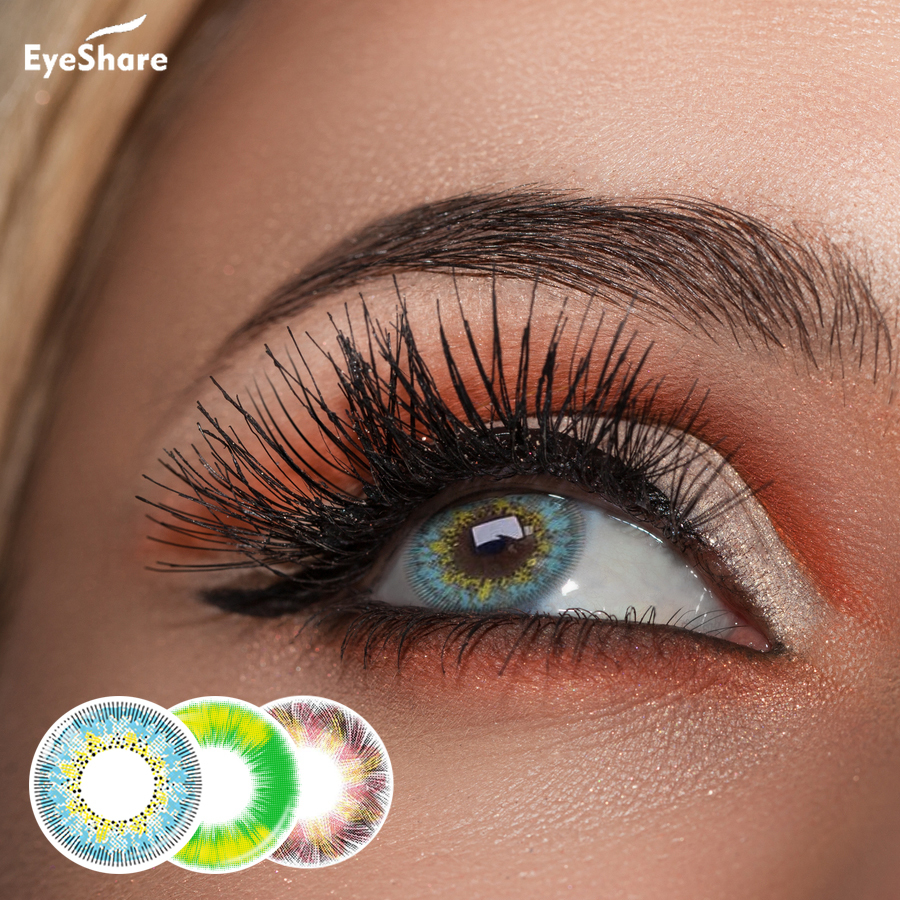 EYESHARE- 2pcs/Pair FlashSale Boundless Fire Eye  Colored Contact Lenses  For Eyes Colored Contact Lens Eye Color Contacts