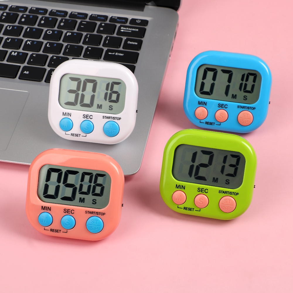 JIANWU 1Pc Multifunction Countdown LCD Screen Display Fresh Learning Aid Timer Bullet Journal School Supplies