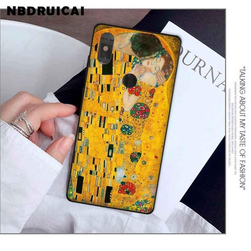 NBDRUICAI قبلة بواسطة غوستاف كليمت عالية الجودة سيليكون حقيبة لهاتف xiaomi 8 9 se 5X Redmi 6pro 6A 4X7 5 زائد ملاحظة 5 7 6pro