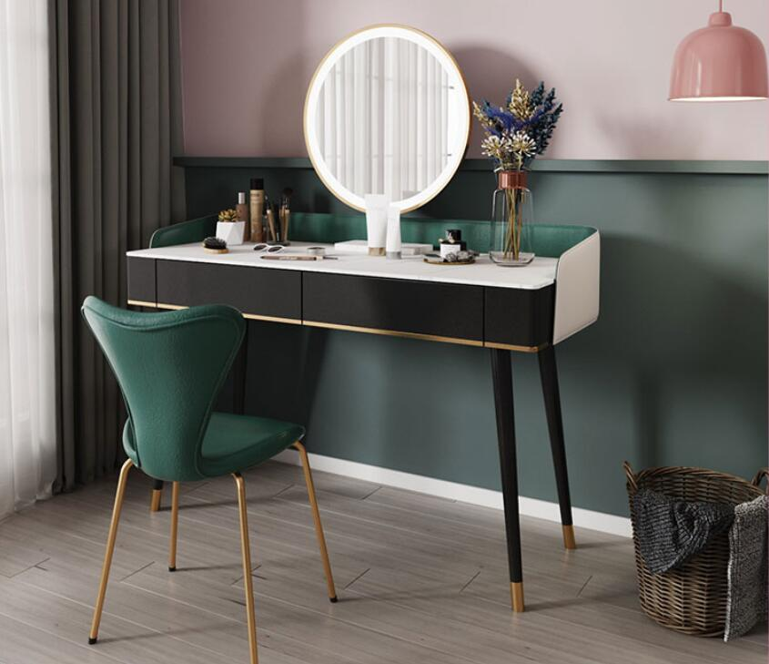 Dressing table dressing table bedroom small unit modern simple female Nordic dressing table with lamp