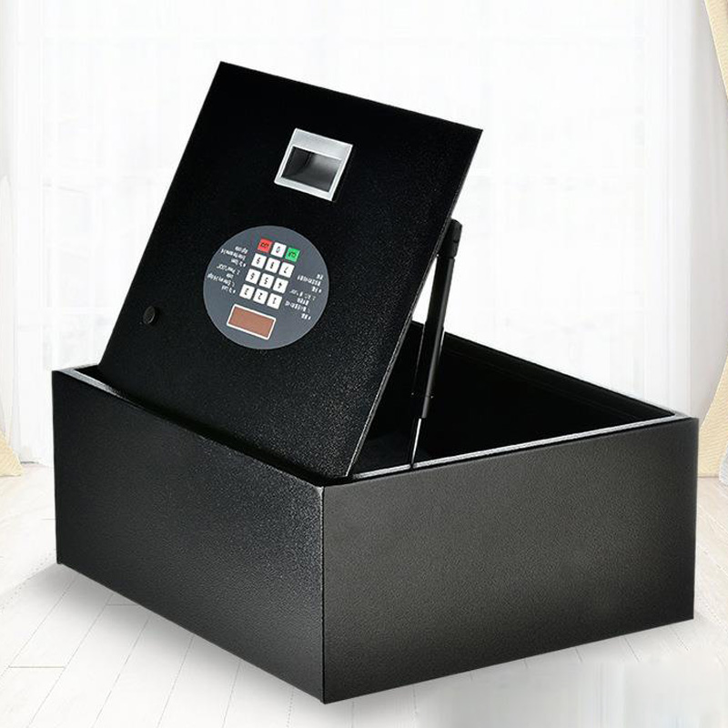 Flip-top Drawer Safe Digital Code Lock Home Office Safe Cover Key Programming Keyboard Safe Deposit Box File Security DHZ0034