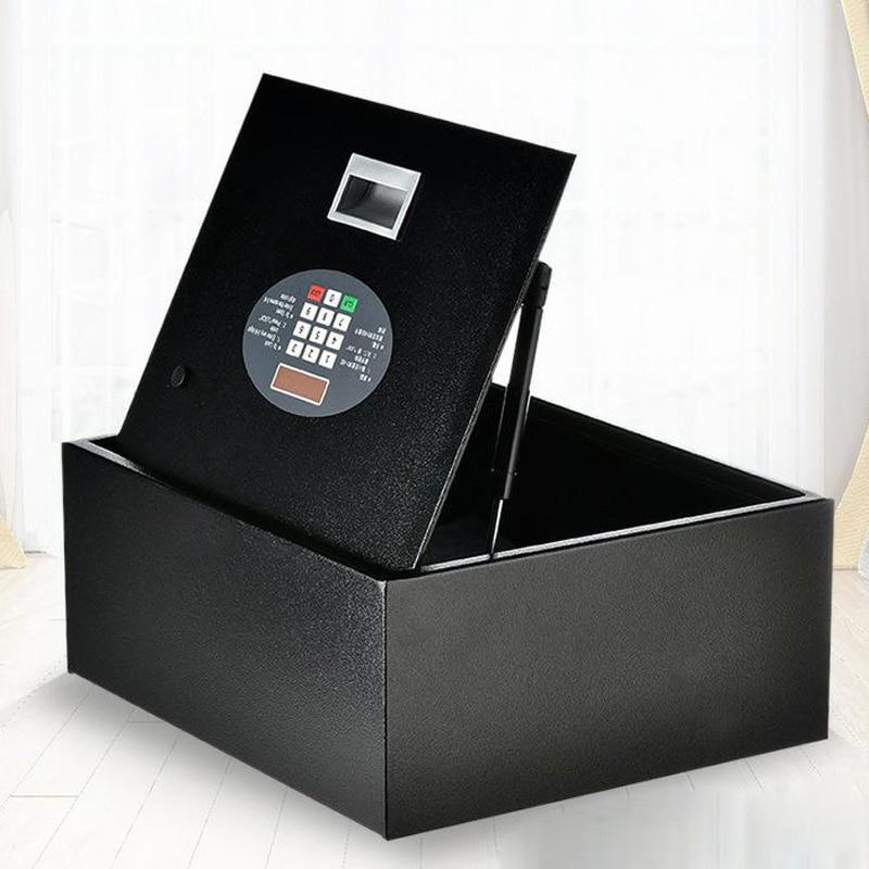 Flip-top Drawer Safe Digital Code Lock Home Office Safe Cover Key Programming Keyboard Safe Deposit Box File Security DHZ0034