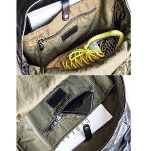 Image 4 - إيتوو حقيبة ظهر عصرية للرجال بطبقات باوتو من الجلد لاتجاه الشارع