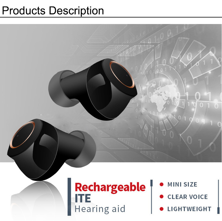 Rechargeable Hearing Aid Medical Ear Apparatus Volume Control Adjustable Tone Deaf Equipment Hook Ear Care Look Like Earbuds