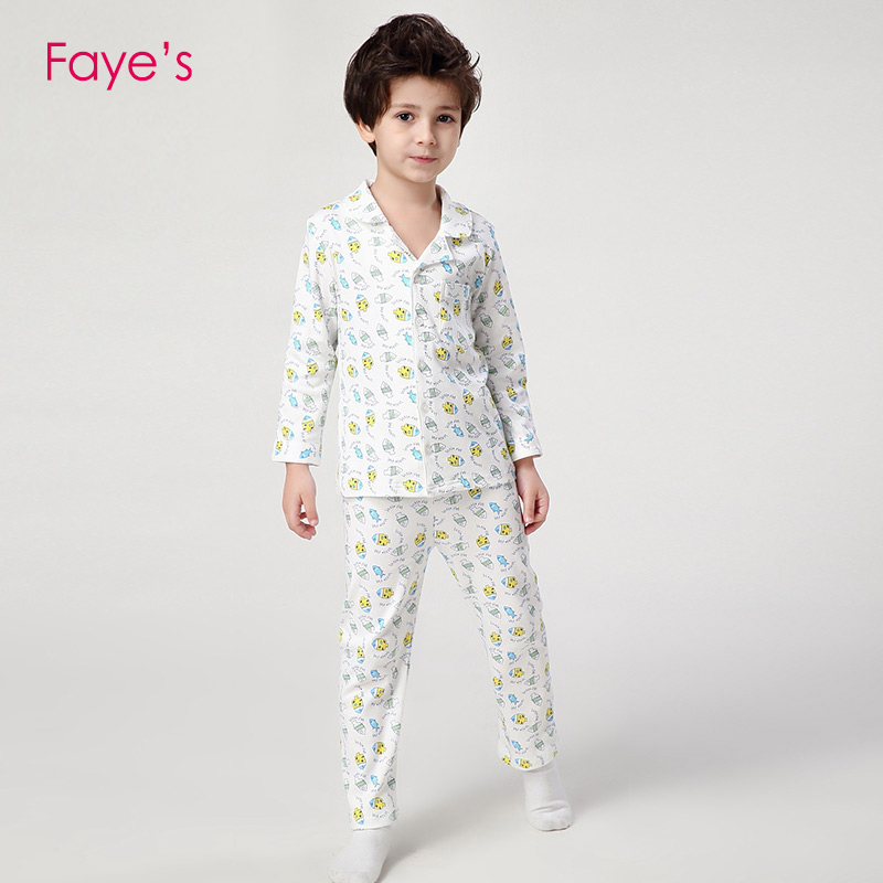 Boys Pajamas Sets 4 12Years Pyjamas kids Pajamas Cartoon Nightwear Children Clothes Pijamas Clothing in Pajama Sets from Mother Kids
