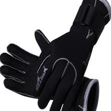 3 мм неопреновые перчатки для плавания оборудование для подводного плавания с защитой от царапин сохраняет тепло гидрокостюм материал зимн...